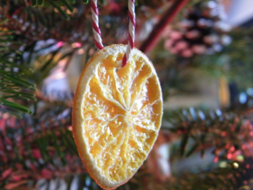 orange slices are a simple natural christmas decoration