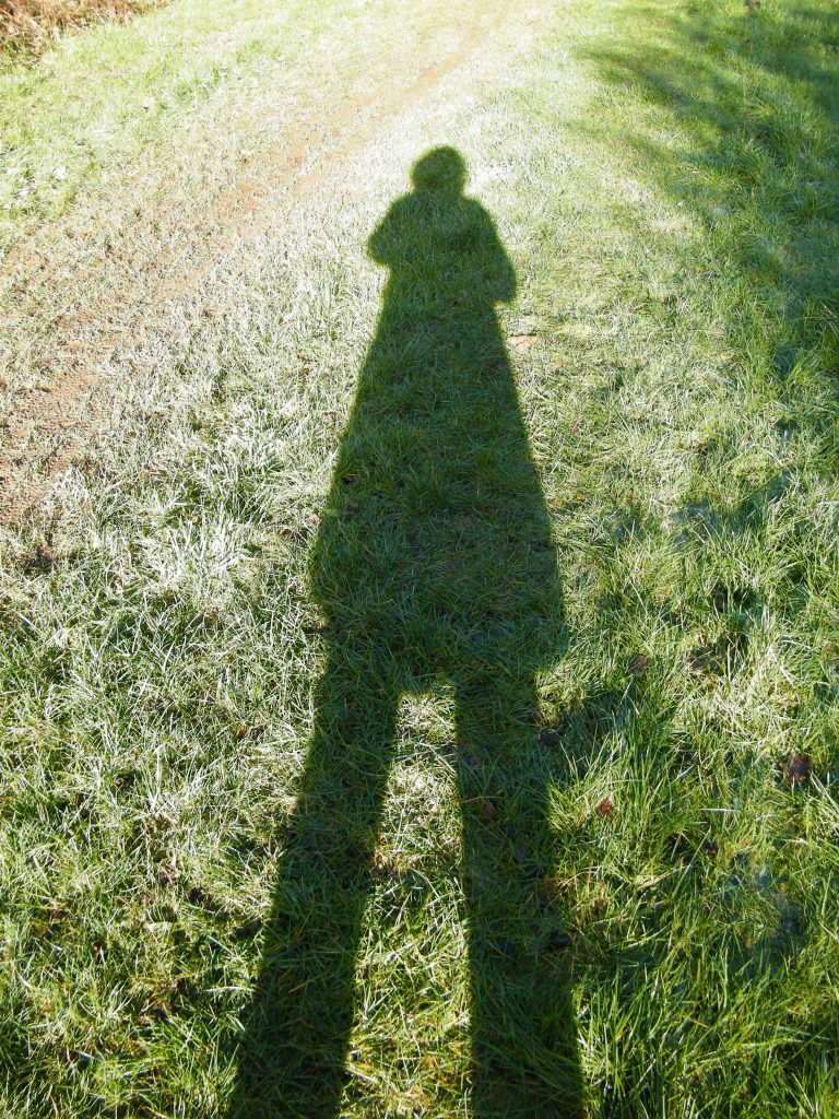Seaford walk photographing my shadow