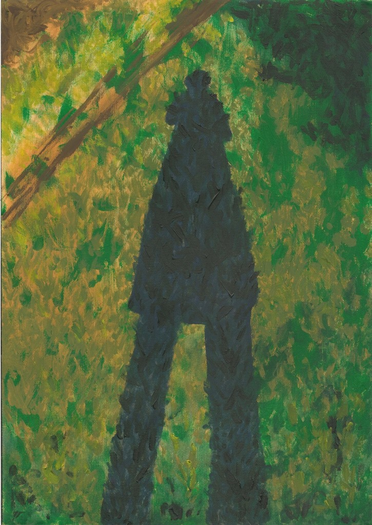 acrylic painting of my shadow