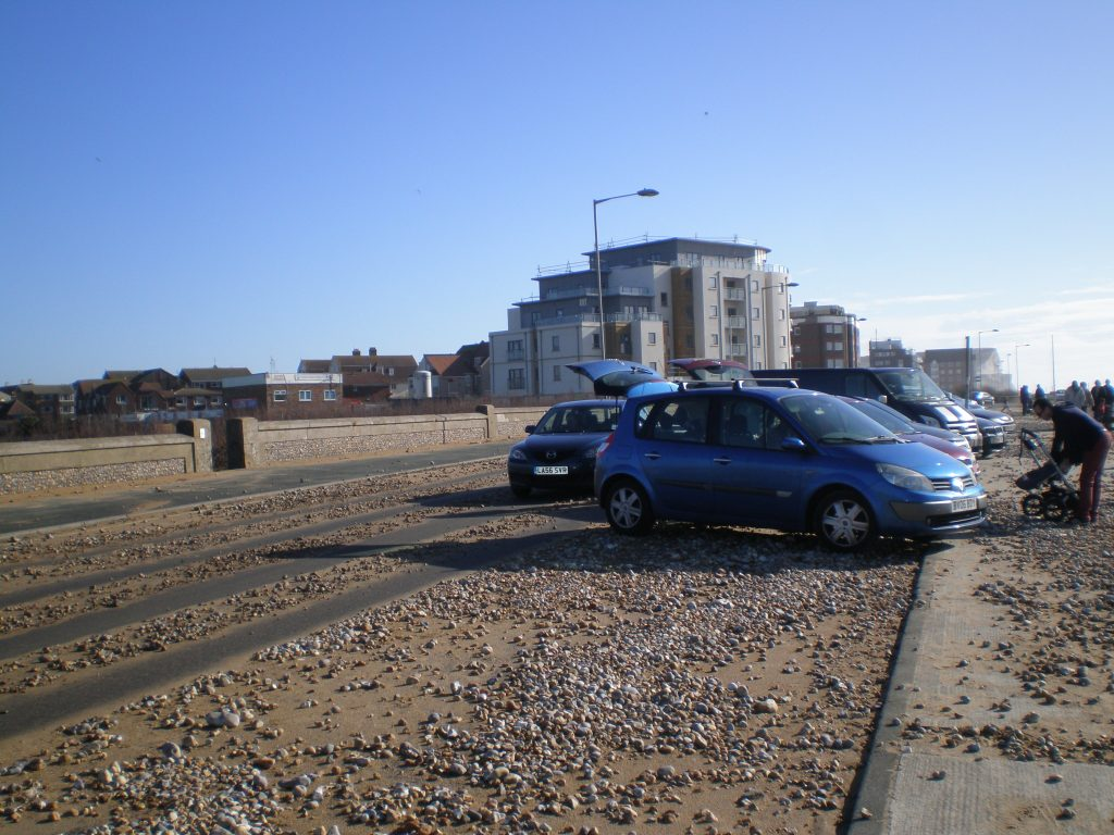 beach on the road at Seaford seafront