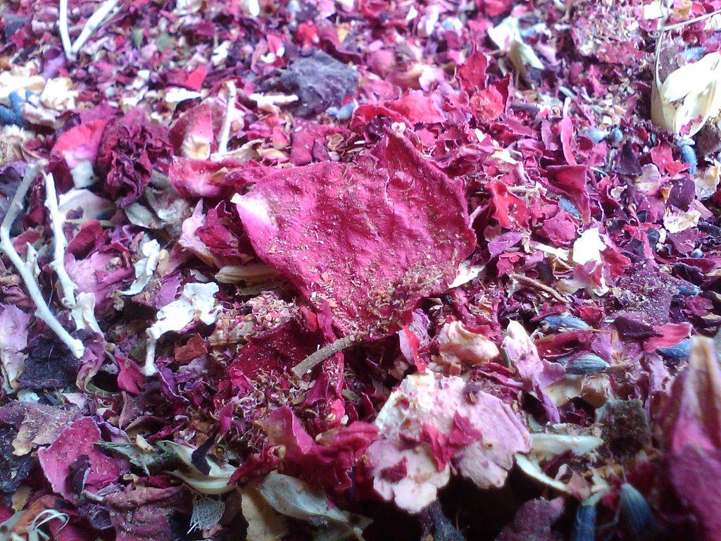 dried flower compost