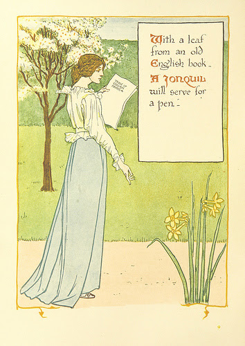 walter crane daffodil illustration