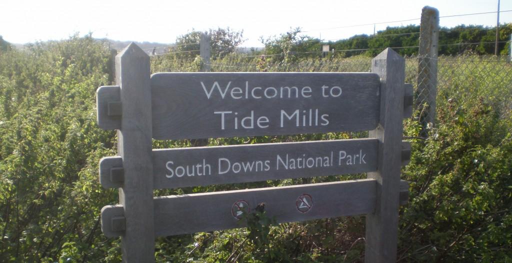 tide mills sign