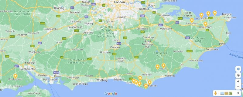 wildflowers map south east england